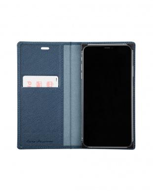 ネイビー 「EURO Passione」PU Leather Book Case for iPhone XS Maxを見る