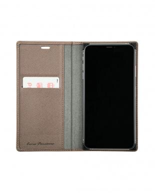 ブラウン 「EURO Passione」PU Leather Book Case for iPhone XS Maxを見る