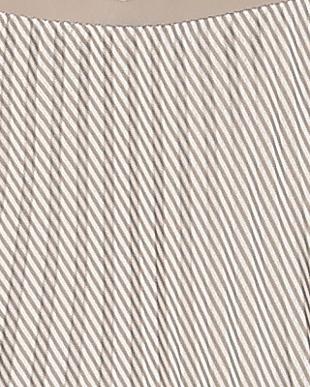 56:ライトベージュ ストライププリーツSKを見る