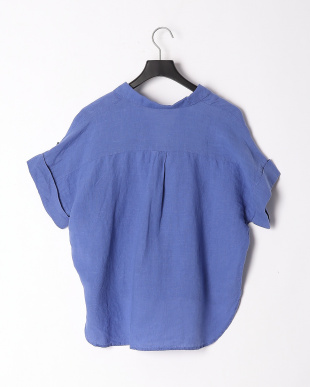 ブルー フレンチリネンスキッパーカラーシャツを見る