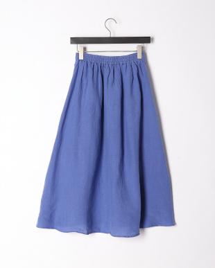 ブルー フレンチリネンスカートを見る