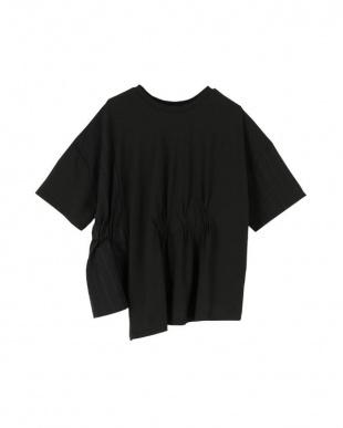 ブラック 前後2way異素材MIXTシャツを見る