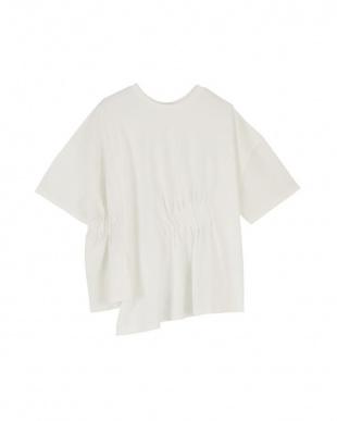 オフホワイト 前後2way異素材MIXTシャツを見る