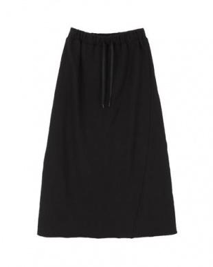 ブラック 裏毛カットオフロングスカートを見る