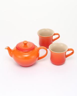 オレンジ ティーポット&マグ(SS)(2個入り) セットを見る
