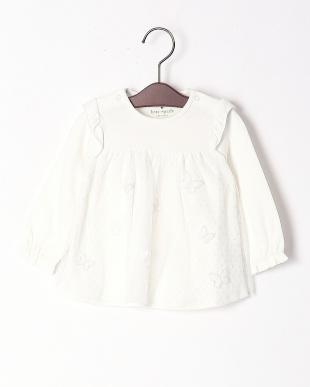 オフホワイト  BUTTERFLY PACHES DRESS W/DIAPER COVERを見る