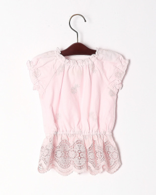 L・ピンク  FLOWER EMBROIDERY TOPを見る