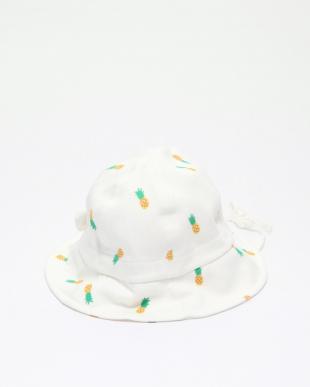 オフホワイト  PINEAPPLES PRINT HATを見る