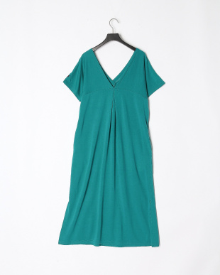 GREEN V-NECK DRESSを見る
