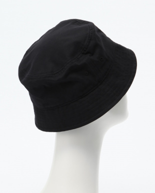 BLACK EMBROIDERED BUCKET HATを見る