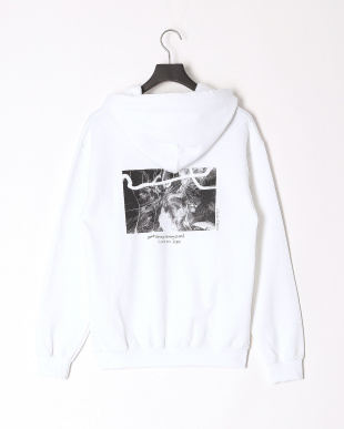 WHITE X-girl × Charles Peterson PHOTO SWEAT HOODIEを見る