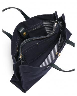 ダークネイビー 日本製 帆布ブリーフバッグを見る