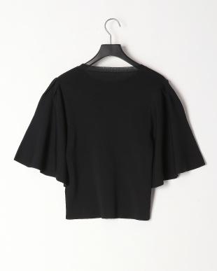 ブラック 総針編みフレアスリーブプルオーバーを見る