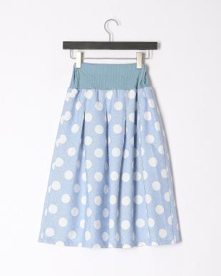 水色 ドットスカートを見る