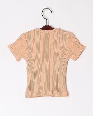 オレンジ ランダムテレコ クルーネックTシャツを見る