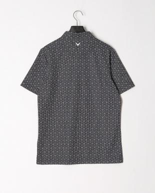 ブラック ボタンダウン半袖シャツを見る