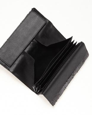 ブラック ダイヤモンドパイソン本革長財布(ギャルソンタイプ)を見る