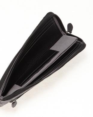 ブラック オーストリッチ本革長財布(L字ファスナー)を見る