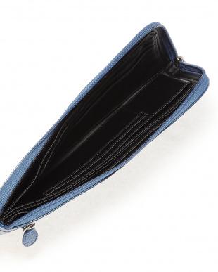 ブルー リザード本革長財布(L字ファスナー)を見る