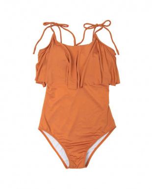 オレンジ ベーシックフレアワンピース/水着を見る
