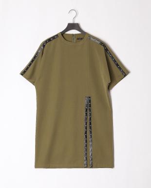 KHAKI 19SS KJ 1ST studs line long pulloverを見る