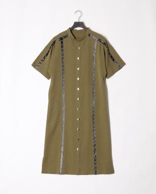 KHAKI 19SS KJ 1ST studs line long dressを見る