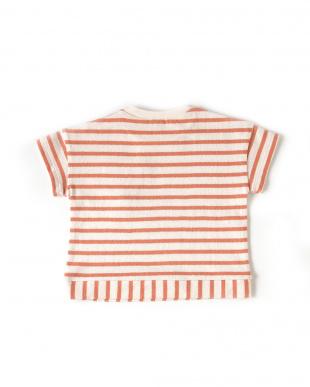 オレンジ Hoppetta ねずみボーダーTシャツを見る