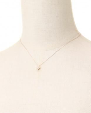 K18PG 天然ダイヤモンド 計0.2ct デザインネックレスを見る