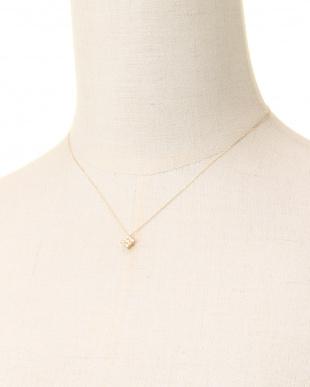 K18YG 天然ダイヤモンド 計0.2ct デザインネックレスを見る