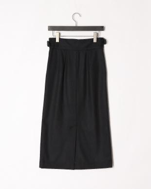 ネイビー ベルトスカートを見る