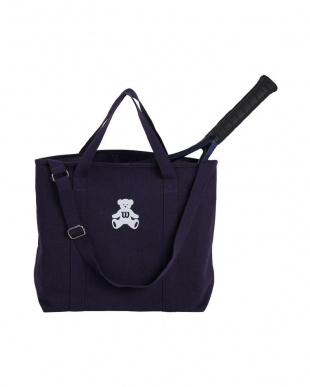 ネイビー ONE BEAR CANVAS TOTEを見る