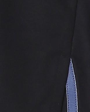 ネイビー falsetto 袖異素材コンビネーションプルオーバーを見る