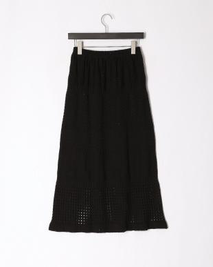 クロ スカシ柄ロングスカートを見る