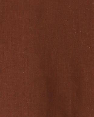 ブラウン フレンチリネン袖フリルBLを見る