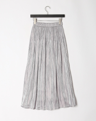 グレー シワサテン スカートを見る