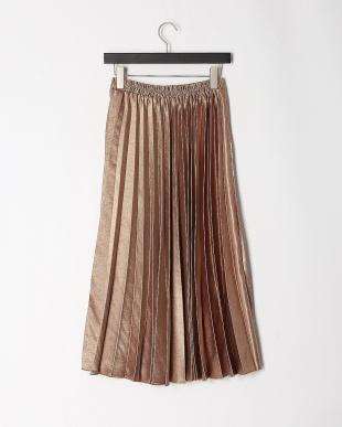 ブラウン シャイニープリーツ3WAYスカートを見る