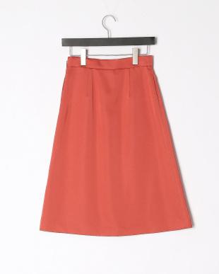 オレンジ ハイフォルムサテン スカートを見る