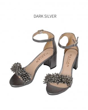 ダークシルバー [MARIAN]05-beads strap chunky sandalsを見る