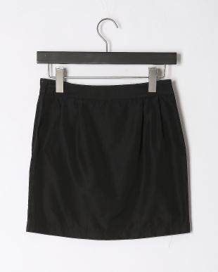 ブラック  フロント デザインギャザースカートを見る