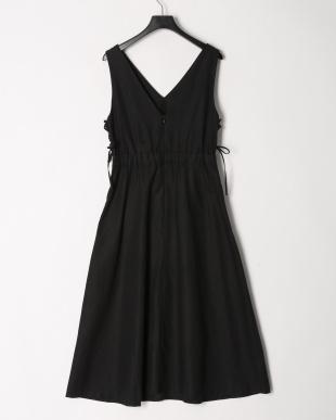 ブラック サイドレースアップドレスを見る