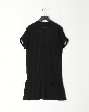 ブラック L半袖ワンピースを見る