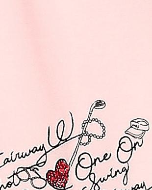 ピンク Lノースリーブシャツを見る