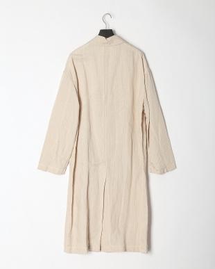 ベージュ エルヴィスストライプ  ロングコートを見る