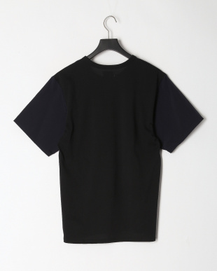 ブラック COOL MAX カノコシルケット   カノコ×布帛コンビTシャツを見る