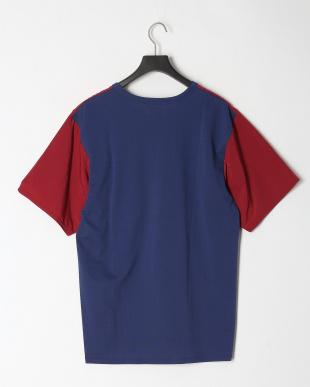 ブルー COOL MAX カノコシルケット   カノコ×布帛コンビTシャツを見る