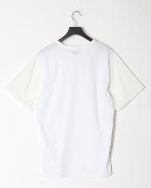 ホワイト COOL MAX カノコシルケット   カノコ×布帛コンビTシャツを見る
