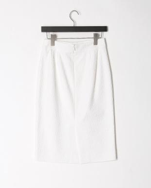 白 ピケストレッチスカートを見る