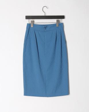 ブルー ピケストレッチスカートを見る