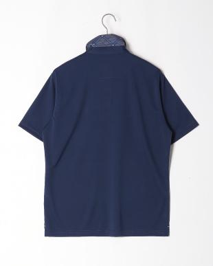 ネイビー 刺繡ポロシャツを見る