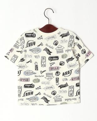 オフホワイト 手描き総柄Tシャツを見る